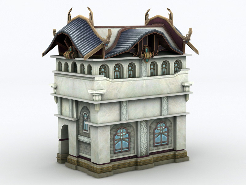 Old Town House 3D model