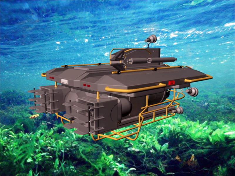 Personal submarine 3D model
