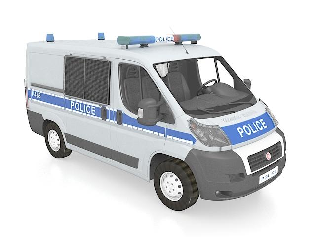 Police van Fiat Ducato 3D model