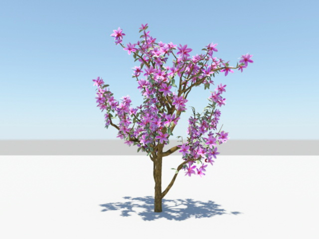 Purple Azalea Plants 3D model Download for Free