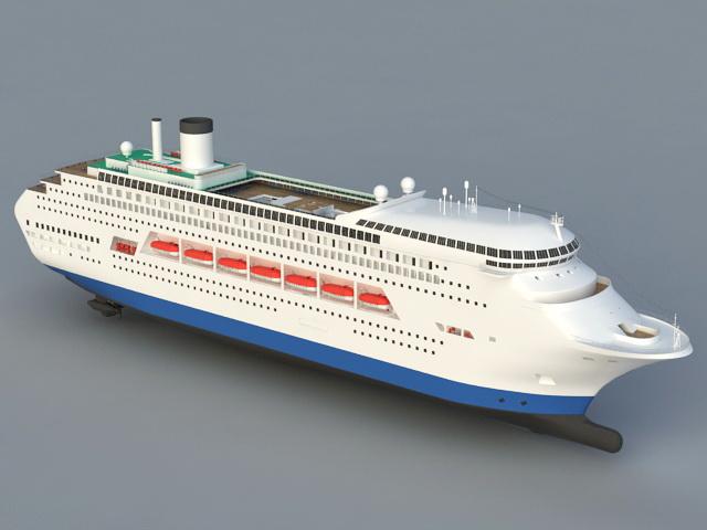 Sea Cruise Ship 3D model