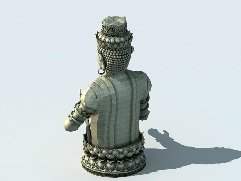 Stone Buddha Statue 3D model
