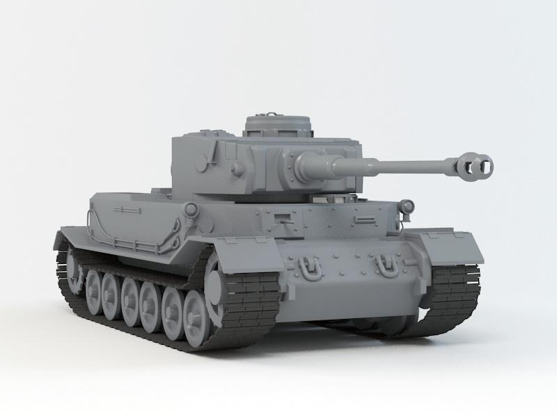 VK 4501 (P) Tiger 3D model