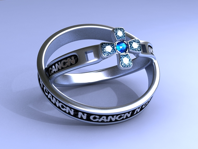Vintage Gemstone Rings 3D model