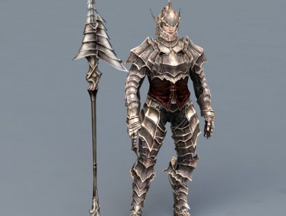 Warrior Armor with Spear