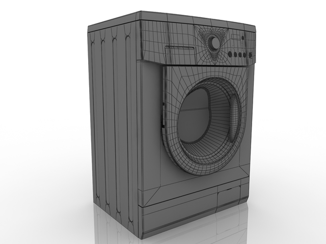 Washing machine LG 3D model