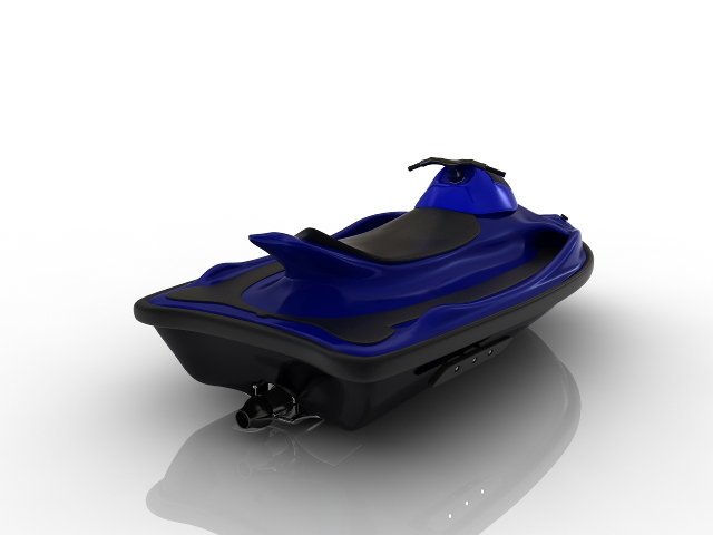 Water scooter 3D model