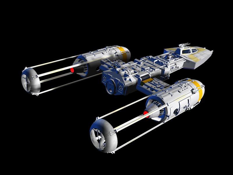 Y-wing Starfighter 3D model