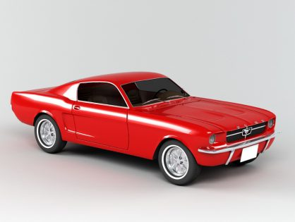 1965 Ford Mustang Fastback 3D model