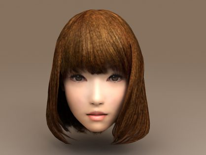 Asian Girl Head