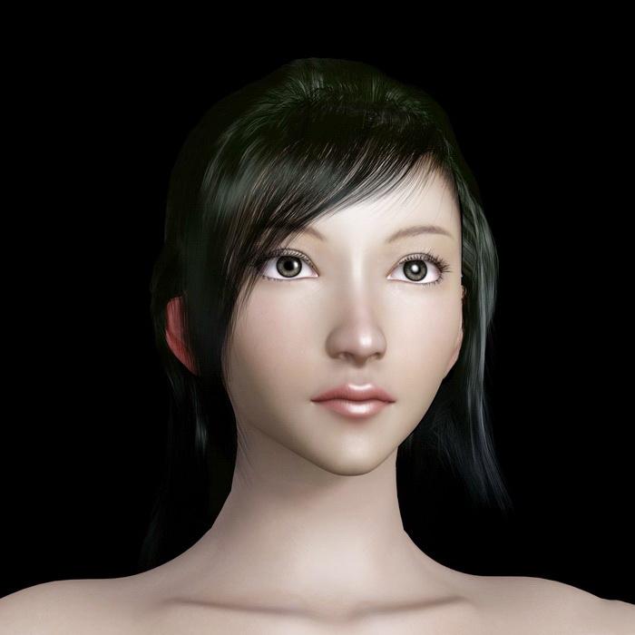 Beautiful Female Head 3D model