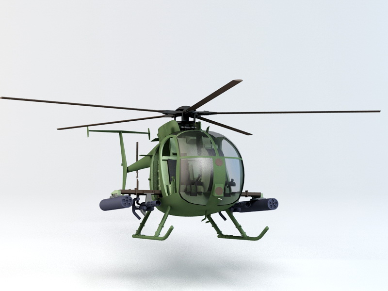 Boeing AH-6/MH-6 Little Bird 3D model
