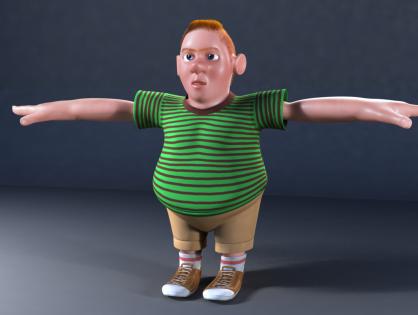 Cartoon Bully 3D model