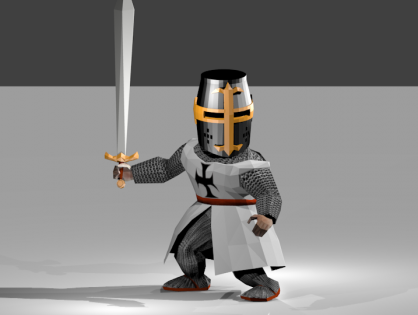 Dark Templar Knight 3D model
