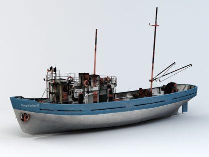 Deep sea fishing boat