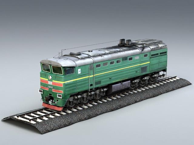 Diesel Locomotive Engine 3D model