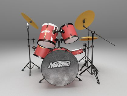 Drum set with cymbals