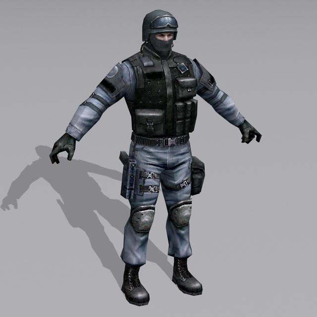 German GSG 9 Operator 3D model