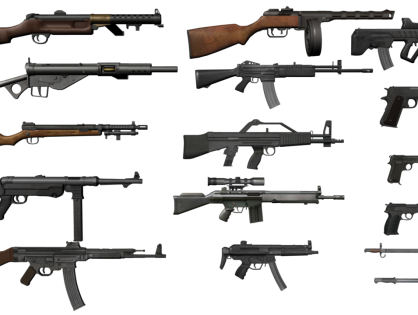 Guns Pack 3D model