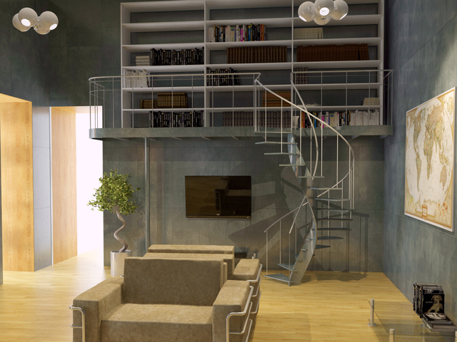 Library 3D model