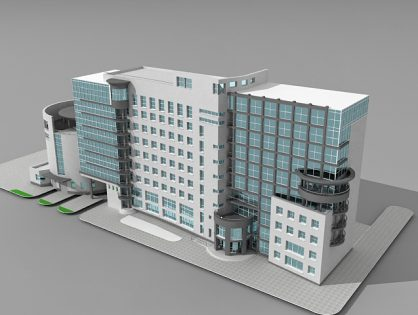 Office building design 3D model