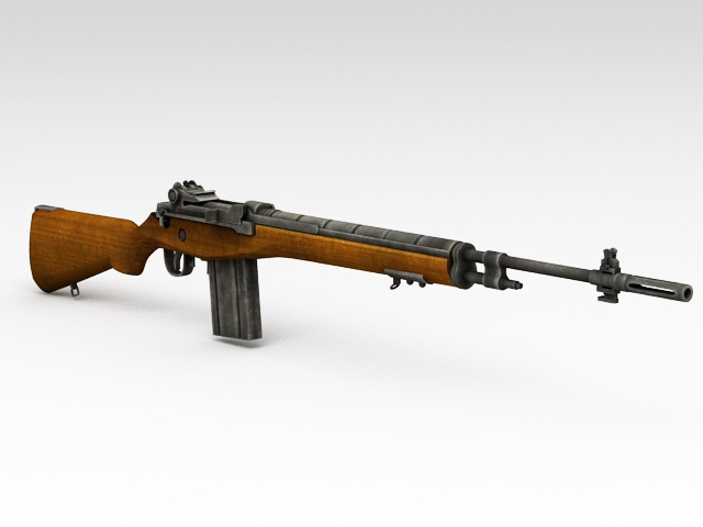 Old Military Rifle 3D model