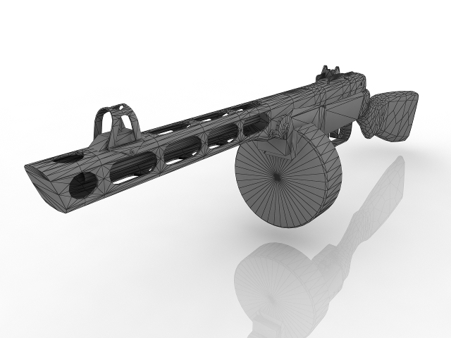 Shpagin Submachine Gun PPSh-41 3D model