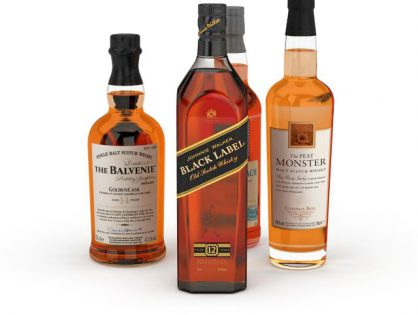 Whiskey bottle set