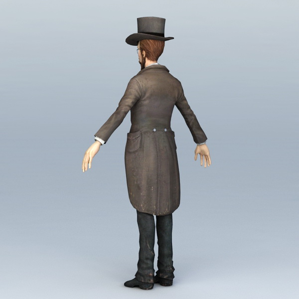 19th Century Doctor 3D model