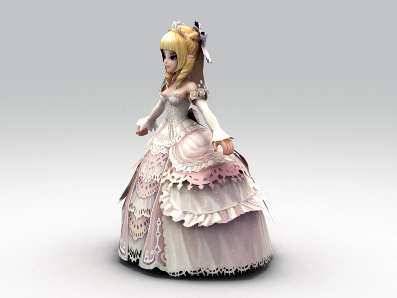 Anime Bride 3D model