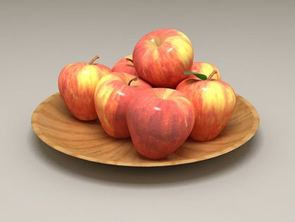 Apples on a Plate 3D model