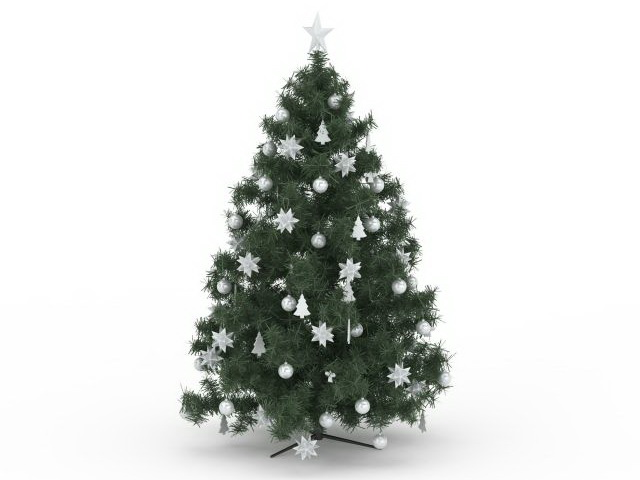 Artificial Christmas Tree 3D Model Download For Free