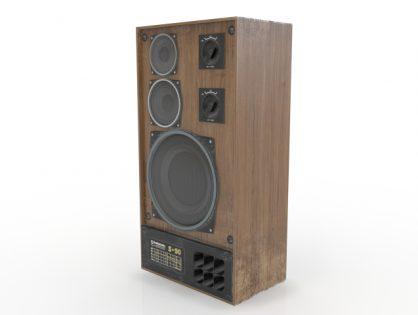 Audio speaker 3D model