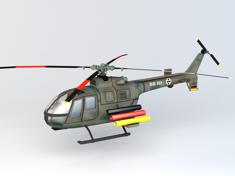 BO 105P PAH-1 Helicopter 3D model