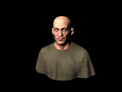 Bald head man 3D model
