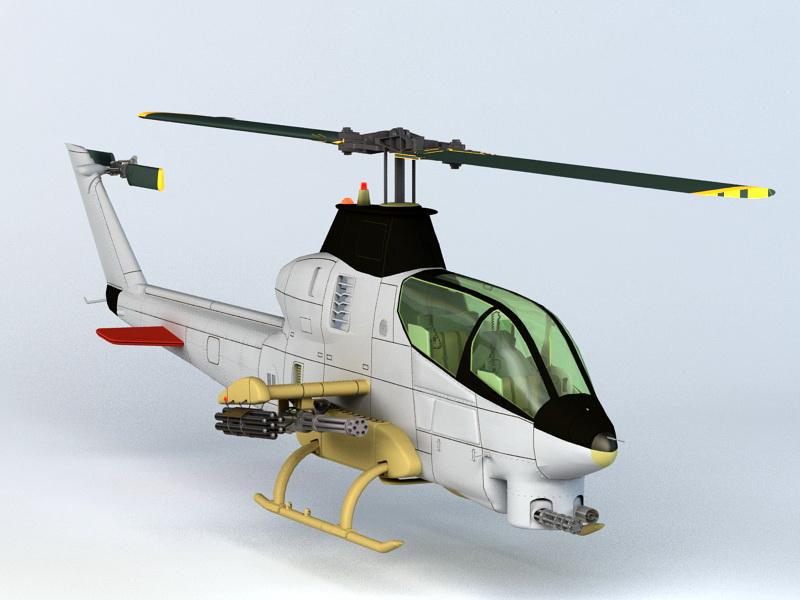 Bell AH-1Z Viper 3D model