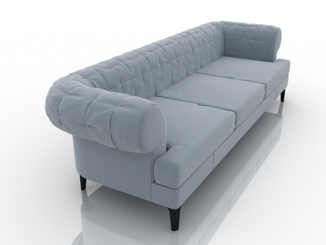 Blue sofa 3D model