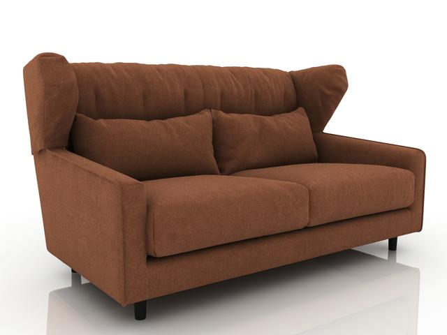Brown sofa 3D model