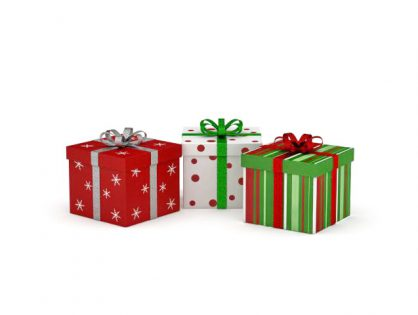 Christmas gift boxes 3D model
