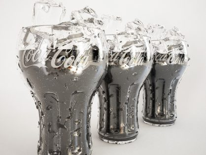 Coca Cola Glass with ice 3D model