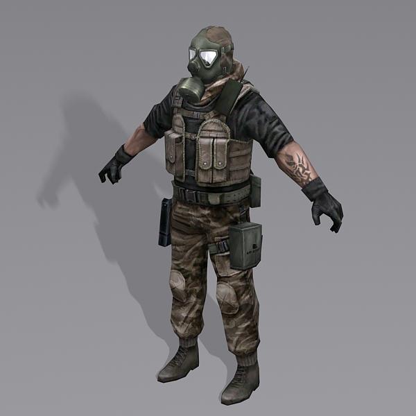 Combine Soldier 3D model