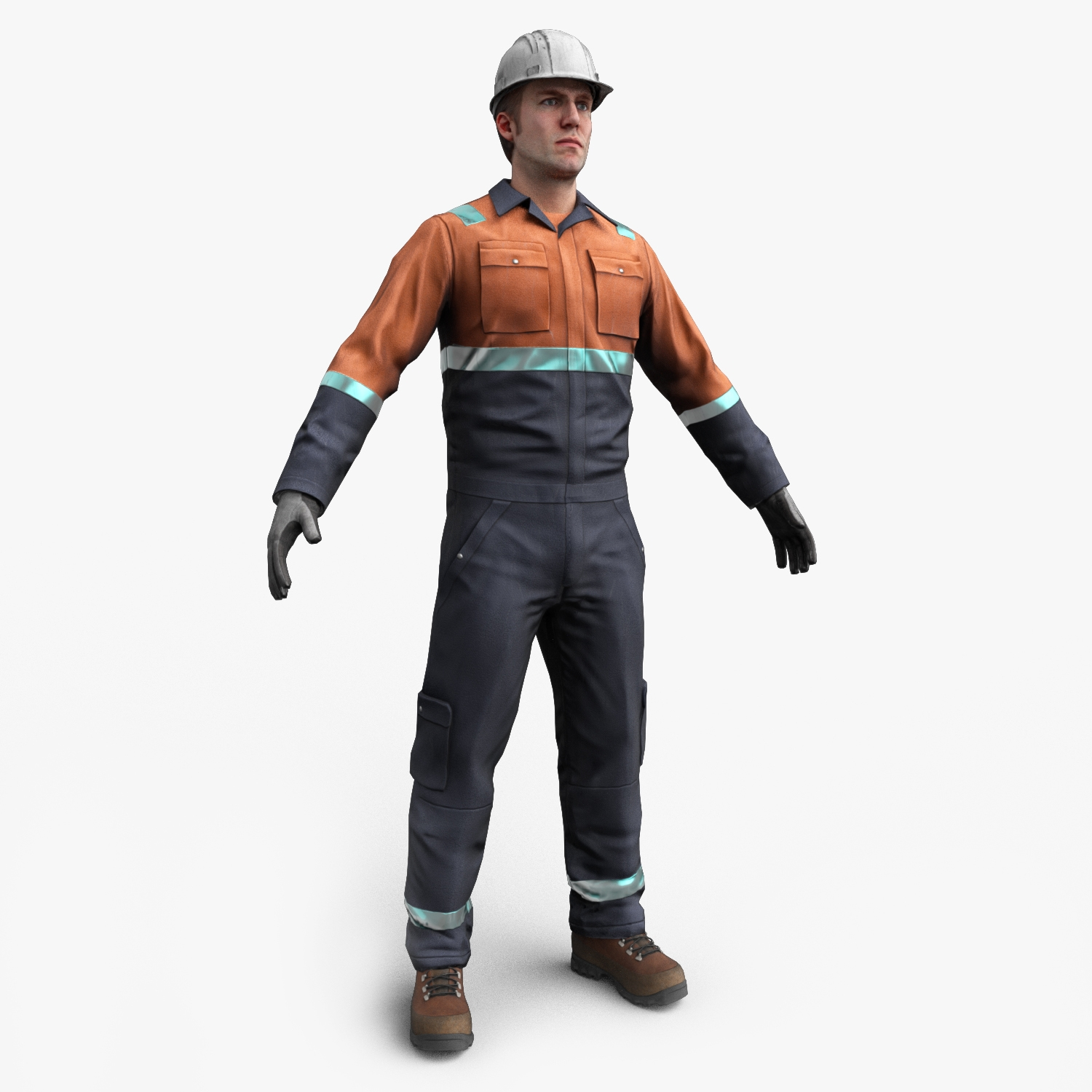 Construction Worker 3D Model Download For Free