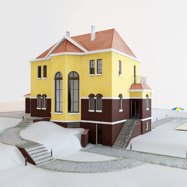 Cottege Home 3D model