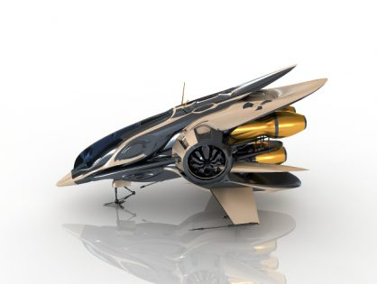 Fantastic Spaceship 3D model