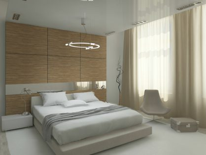 Fashionable bedroom interior