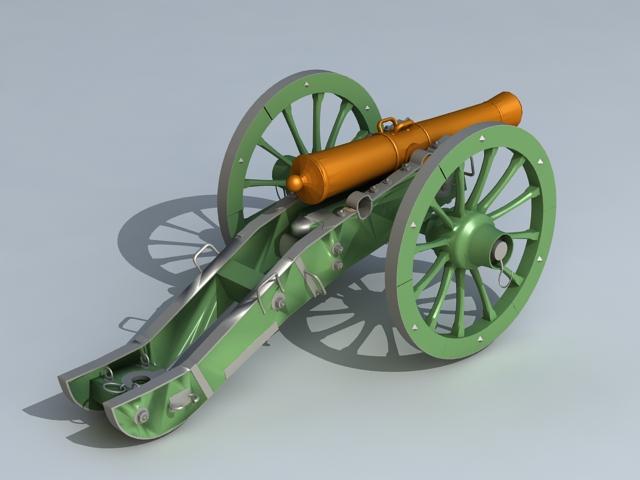 Field gun 3D model