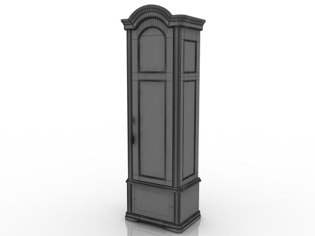 Floor clock 3D model
