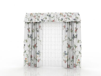 Flower Curtains 3D model