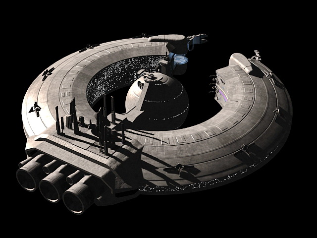 Future Space Station 3D model