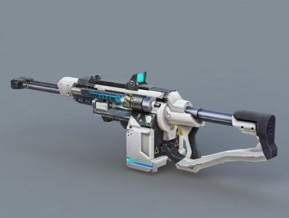 Futuristic Submachine Gun